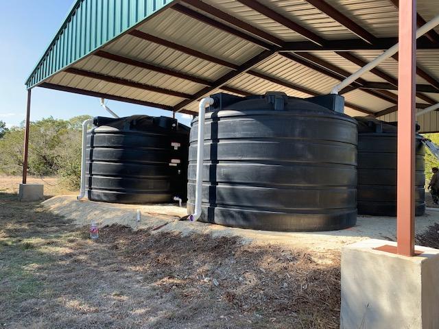 Rain Tanks installed at Balcones Canyonland Preserves
